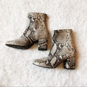 Free People Snake Print Boot Size 38